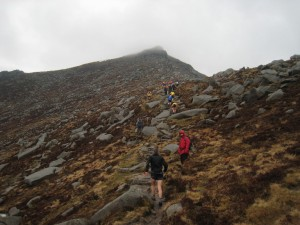 goatfell ascent 2013